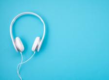Stock image of headphones