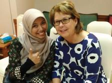 Photo of Dr. Diah Martina and her IDEA-PC mentor, Dr. Janet Abrahm.