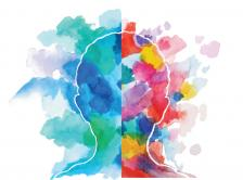 multicolored brain illustration
