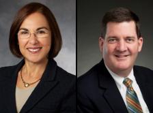 Dr. Lidia Schapira and Dr. Daniel Mulrooney headshots