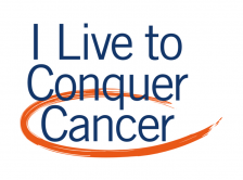 I Live to Conquer Cancer logo