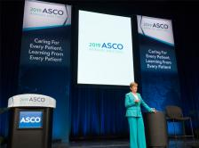 Dr. Monica Morrow presenting at ASCO Voices