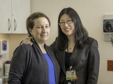Dr. Nancy Lin with Lisa, a patient