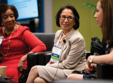 A discussion in the Women's Networking Center at the 2018 ASCO Annual Meeting.