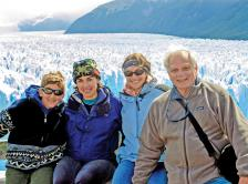 Dr. Schapira and her family in El Calafate National Park in southern Argentina.