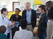 Dr. Lawrence Shulman volunteering in Rwanda