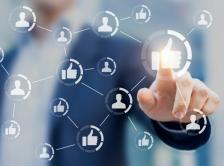Stock graphic of social media
