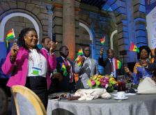 Ghanaian delegation at 2017 World Cancer Leaders' Summit