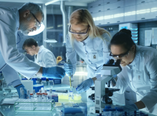stock image of doctors conducting research