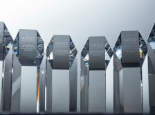 crystal awards with the ASCO logo