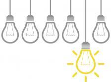 Stock graphic of lightblubs