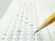 pencil filling in a multiple choice test
