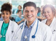 Stock image of doctors from diverse racial backgrounds