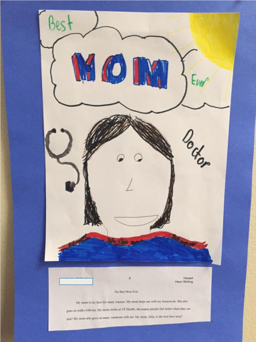 "child's drawing of a doctor that says ""Best Mom Ever"""