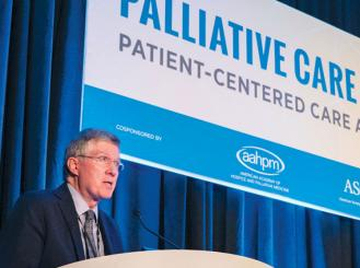 Photo of Dr. Daniel B. Hinshaw at the 2016 Palliative Care in Oncology Symposium