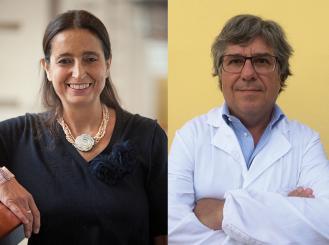 Composite image of Dr. Antonella Surbone and Dr. Paolo Tralongo