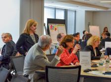 ASCO President Dr. Julie M. Vose and workshop attendees participate in a breakout session at the ASCO-AACI Best Practices in Cancer Clinical Trials Workshop.
