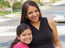 Dr. Hurria with her daughter