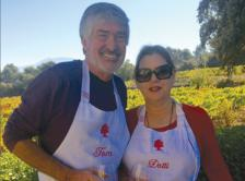 Dr. Marsland and his wife take a cooking class in France.