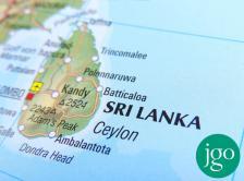Sri Lanka on globe