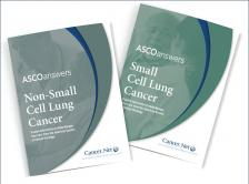 Image of ASCO Answers guides for non-small cell lung cancer and small cell lung cancer